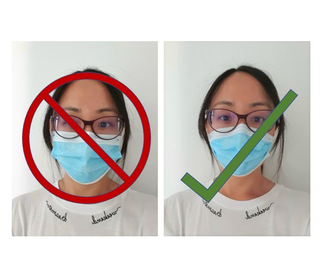 How wear a surgical face mask properly